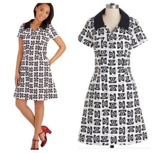 Modcloth Bea and Dot  Rotary Phone dress Rare!